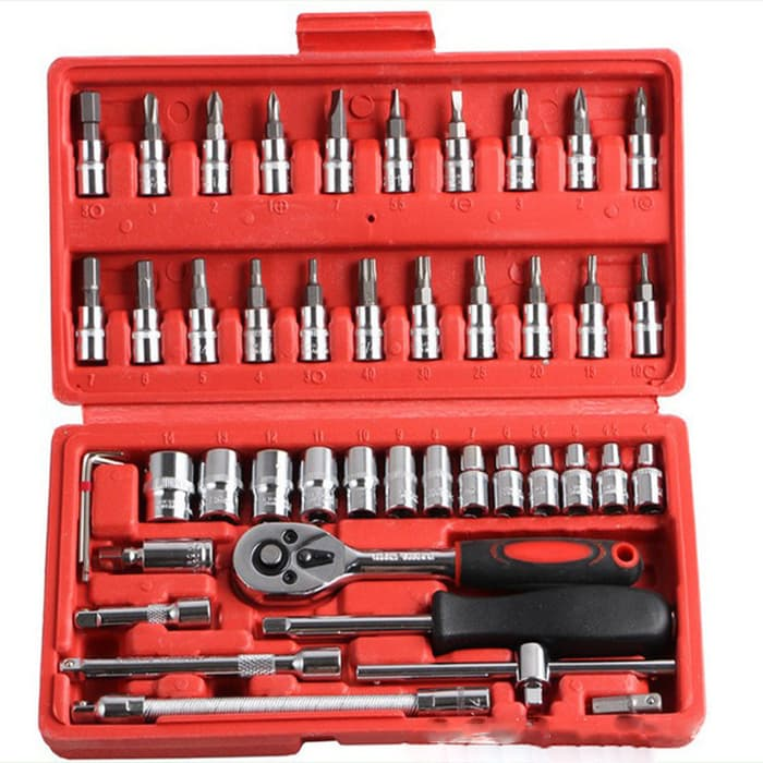 High Quality 46 in 1 Household and Car Auto Repair Tool Ratchet Wrench