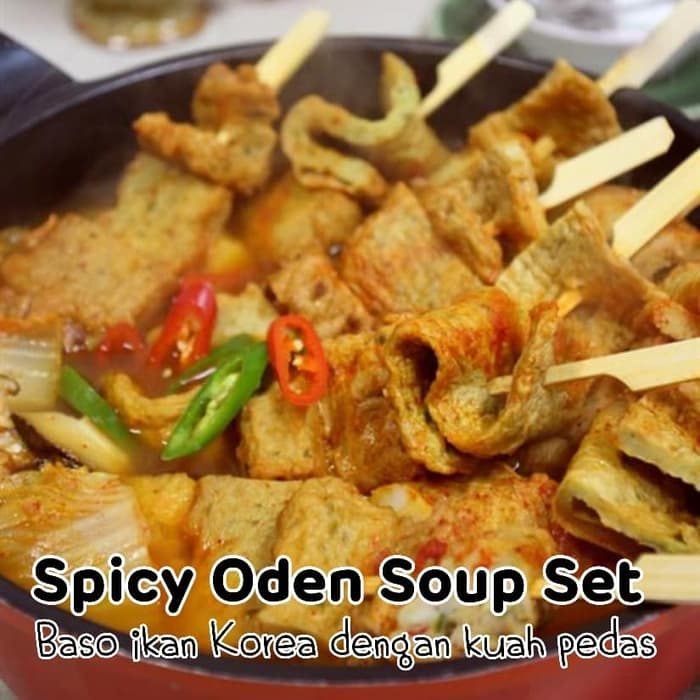 Spicy Oden Soup Set Small 4 pcs (include bumbu lengkap) Halal / Import