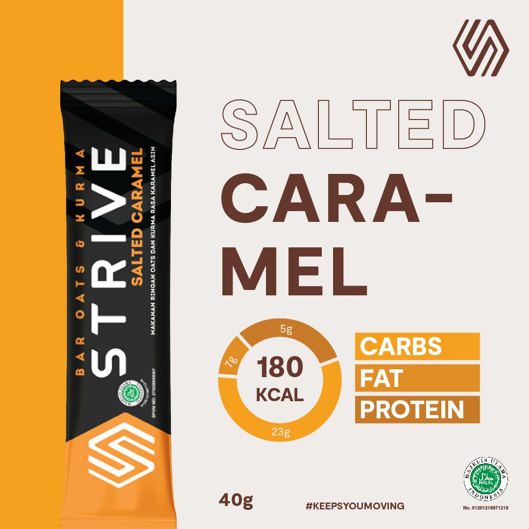 Strive rasa Salted Caramel 1 box isi 6pcs
