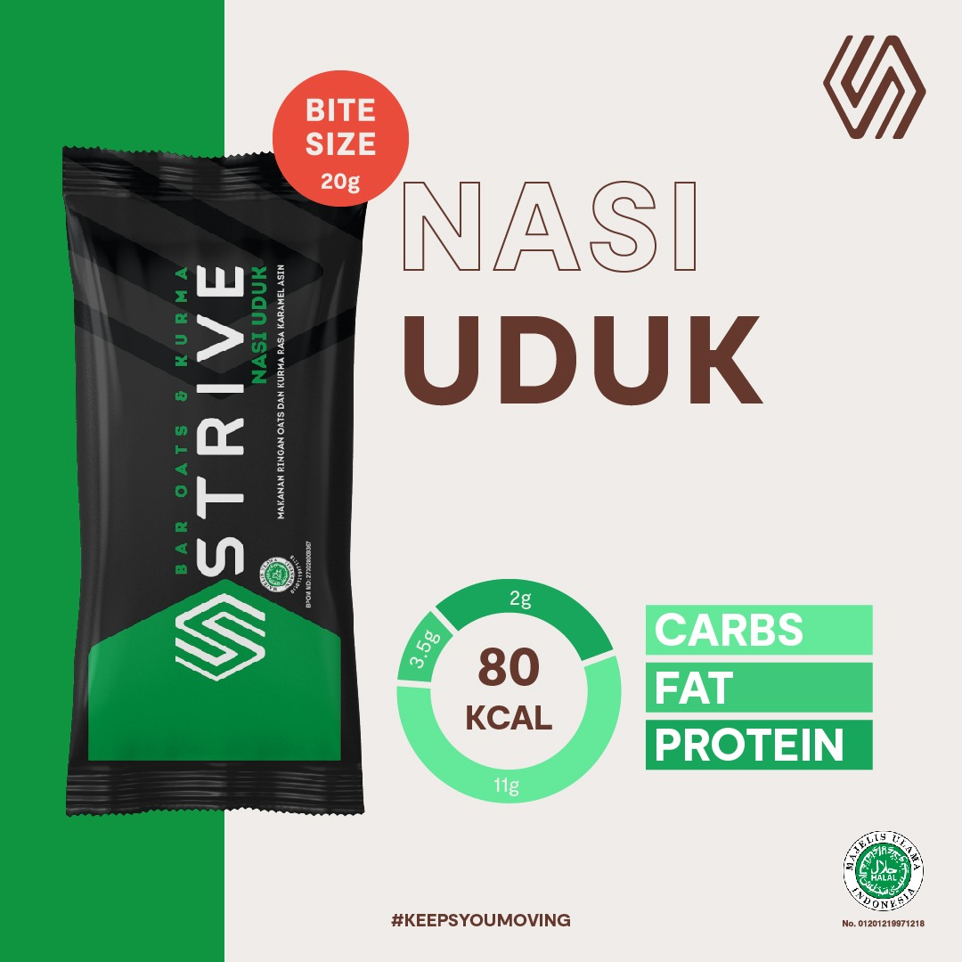 Strive Bite Size rasa Nasi Uduk 1 Box isi 5pcs