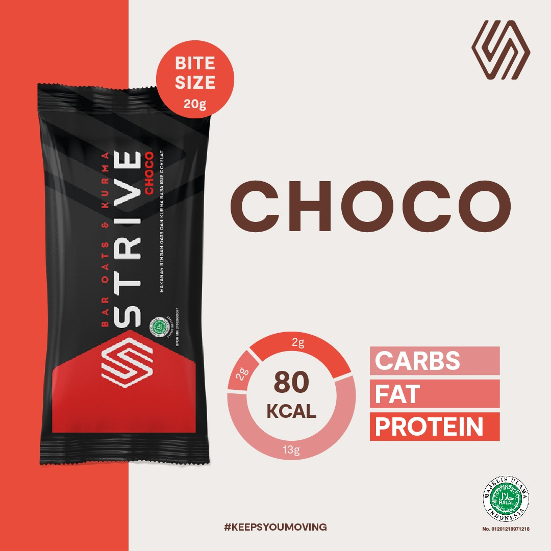 Strive Bite Size rasa Choco 1 Box isi 5pcs